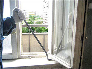 Демонтаж окна. Мастерлом